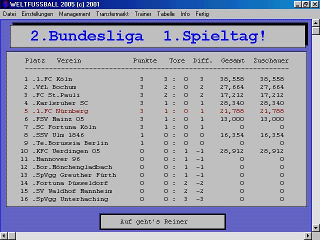Screenshot für Weltfussball 2005